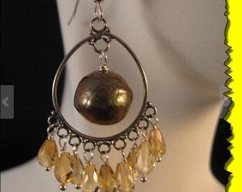 Gemstone Chandelier earrings,silver earrings, gemstone earrings, cluster earrings, chandelier earrings,dangle earrings,drop earrings,cluster