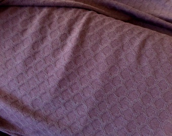 Jacquard Knit Fabric - Honeycomb Texture - Mauve Color - Wool/Lycra - 50 Inches Wide