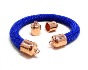 Pink Gold Rose Gold End Caps 10,3mm for Cord 10mm - Pk2