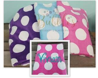 Polka Dot Beach Towels Pink Purple Blue
