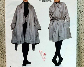 Vogue 1836, Misses' Coat and Belt Sewing Pattern, Issey Miyake Designer Pattern, Misses' Pattern, All Sizes Included, Uncut