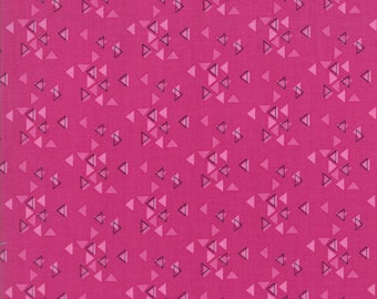 Spectrum Triangles Magenta from Spectrum Collection by V and Co for Moda Fabrics