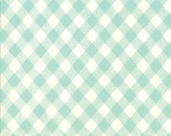 Aqua Gingham from Basics Collection by Bonnie and Camille for Moda Fabrics