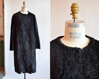 Vintage 1960s MOD faux fur coat