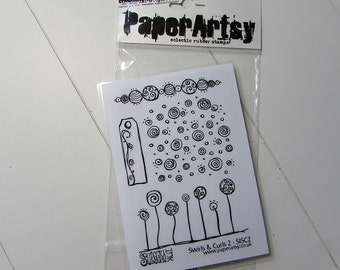 Paper Artsy background rubber stamps