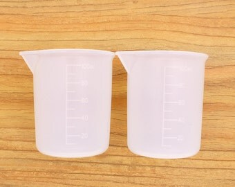 Basic Tools of  2-part epoxy Resin, Silicon Measuring cups