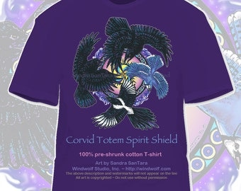 Raven Crow Magpie Jay Totem tee