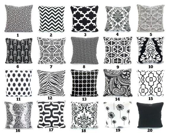 Black Throw Pillow Covers Decorative Pillows Cushions Black