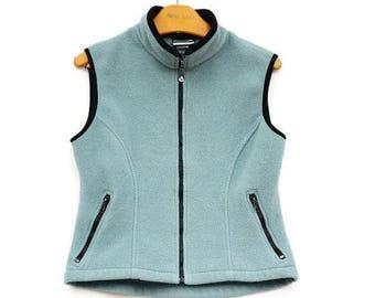 Vintage 90s Fleece Vest Made in Canada/Activewear/Hippie