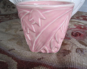McCoy Pink Flower Small 3 1/4 Inch Vase McCoy Pottery