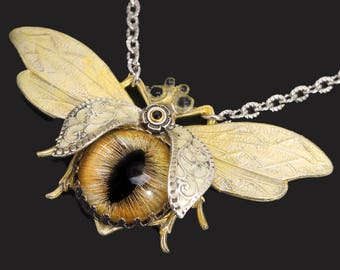 Bug Jewelry Bug Necklace Bee Necklace Save The Bees