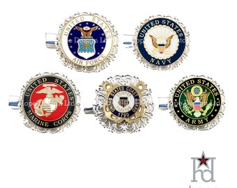 US Military Branch Hair Clip // 72712 // 72812 // 72912 // 73012 // 73112