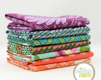 """Bright Heart - Half Yard Bundle - 7 - 18""""x44"""" Cuts - Amy Butler - Westminster Quilt Fabric"""