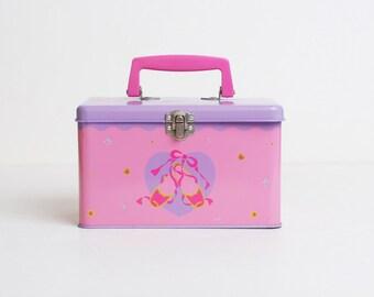Vintage 80s Rare Sanrio Petite Plie Tin Box Purse