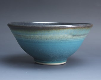 Handmade porcelain turquoise soup cereal rice ice cream bowl 20 oz 3779