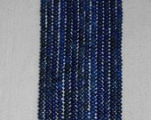 Lapis, Lapis Rondelle, Smooth Rondelle, Blue Rondelle, Semi Precious, Gemstone Rondelle, Natural Stone, Natural Lapis, Half Strand, 6.5mm