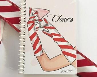 Mini Pocket Notebooks - CHEERS - Stocking Stuffers  -Gift Ideas - Notebooks - Gifts for Women Teachers -