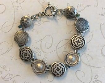 Celtic button bracelet