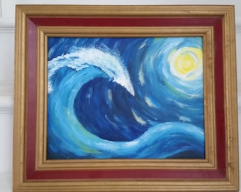 Original Acrylic Painting on canvas with frame