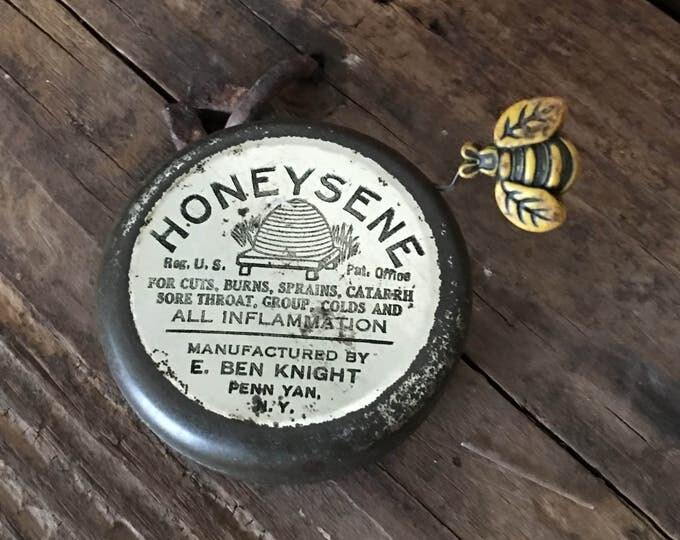 Honeysene Vintage Medicine Tin Bee Skep Graphics