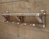 Rustic Cedar Log Shelf Handcrafted Handmade Towel Holder Wall Shelving Bathroom Decor Available in 4 Sizes
