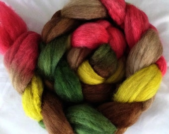 "Our Special Blend Hand Dyed BFL/Silk 4 Oz ""Fruitcake"""
