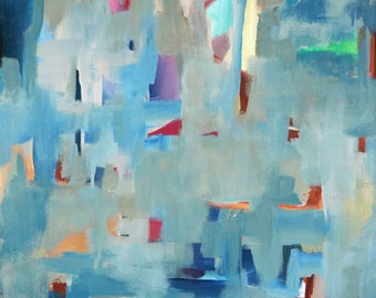 Fragments  original abstract acrylic painting