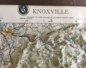 RELIEF MAP KNOXVILLE Tennessee, Smokey Mountains, Pisgah, Hubbard Raised Relief Map, Mid Century, 1972 at Modern Logic