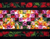 Quilted Spring Floral Table Runner