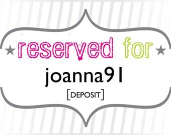 joanna91: Deposit for Rustic Floral Wedding Invitations