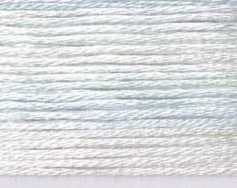 Cosmo, 6 Strand Cotton Floss, SE80-8003, Seasons Variegated Embroidery Thread, Silver/Pale Blue, Wool Applique, Cross Stitch, Embroidery