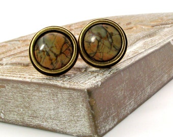 Pretty as a Picture Cufflinks – Colorful Picasso Jasper Cufflinks, Picasso Jasper Cufflinks