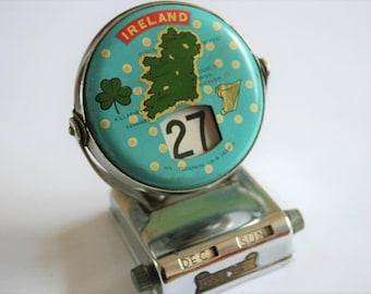 Vintage perpetual calendar. Irish perpetual calandar