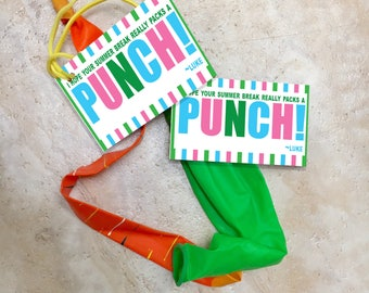 Hope your summer break really packs a punch! Summer printable tags