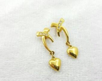 Avon Hearts and Kisses Pierced Earrings 1994 Sweetheart Ready