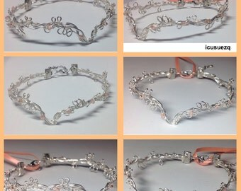 Tiara Headpiece for DOLL/Circlet/Crown/Reborn DOLL/Elven/Fairy/Wire Headpiece for DOLL/Wire Tiara/Silicone Baby/Customizable Colors