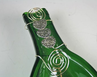Flattened Wine Bottle, Slumped Wine Bottle, Melted Wine Bottle,Gift for the Wine Drinker,  Wine Bottle Cheese and Cracker Tray