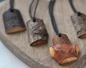 wooden pendant •  linden or/ pine or/ oak  wood necklace  •   wood pendant  •  wooden necklace