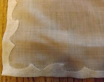 White Sheer Handkerchief ( vintage)