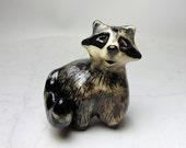Raccoon Miniature Sculpture - Handmade Ceramic Figurine - Forrest Animal - Pottery Animal - Clay Raccoon Figurine - Clay Animal