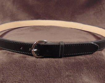 Mens 1 Inch Dress Leather Belt
