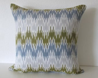 Zig Zag Ikat Chartreuse Pillow Cover