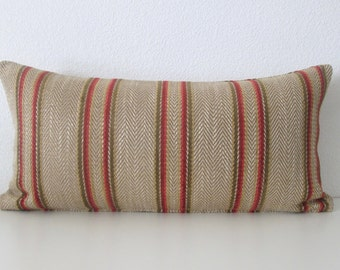 12x24 Herringbone Stripes Lumbar Pillow Cover