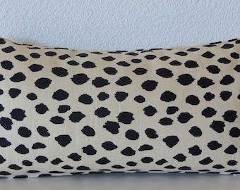 Dodie beige - Mini pillow cover - Ballard design - black spot - animal print - 8x16 - decorative lumbar pillow cover