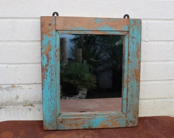 Reclaimed handmade window mirror from India