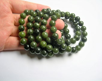 Jade - 10mm round beads - 19 beads - 1 set - A quality - HSG53