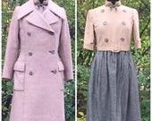 MaySale Vintage 1960s Geoffrey Beene Suit: 60s Dress and Coat, Stanley Korshak Chicago, small to medium
