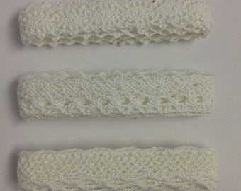 White Cotton Lace Trim