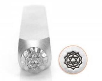 Heart Chakra Stamp - 6mm - Impressart-  Design Stamp  - USA