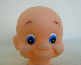 Plastic Vinyl Dwarf Doll Head